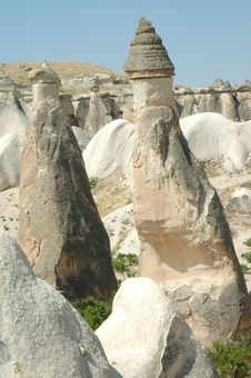 Free Stone Columns In Cappadocia, Turkey Stock Photos - 15351943