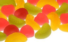 Free Fruit Candies On A White Background. Royalty Free Stock Image - 15352126