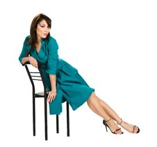 Free Woman Sitting In Chair Royalty Free Stock Image - 15352876