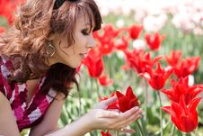 Free Tender Girl In The Garden Royalty Free Stock Photos - 15352968