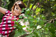 Free Girl In A Forest Royalty Free Stock Photos - 15353038