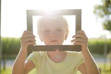 Free Little Girl In Frame Stock Photos - 15353043