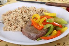 Free Beef Sirloin Steak Meal Royalty Free Stock Photos - 15353148