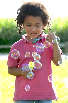 Free Soap Bubbles Royalty Free Stock Photos - 15353178