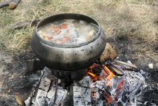 Free Cook In The Pot On A Fire 2 Stock Image - 15353461