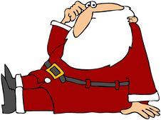 Free Puzzled Santa Sitting Stock Photos - 15353533