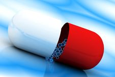 Free Red And White Pill Stock Photo - 15353770