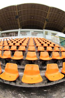 Orange Seat In Arena Stock Photography