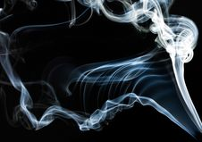Free Blue Smoke On Black Stock Images - 15353954