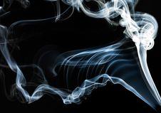 Blue Smoke On Black Stock Images
