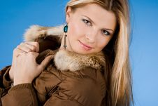 Free Girl With Fur On Coat Royalty Free Stock Photography - 15354207