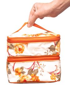 Free Cosmetic Bag In Hand Stock Photos - 15354263