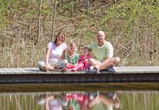 Free Family At The Lake Royalty Free Stock Image - 15354516