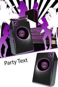 Disco Flyer Royalty Free Stock Photos