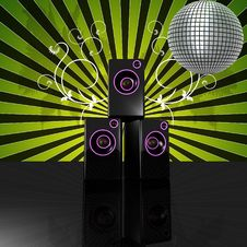 Floral Disco Speaker Royalty Free Stock Photo