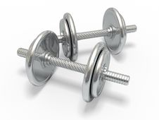Free WEIGHTS. Royalty Free Stock Photography - 15358347
