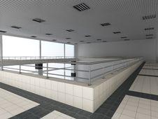 Interior Of A Public Building. Stock Photos