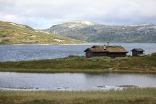 Free Traditional Norwegian House In Rugged Landscape Stock Image - 15358791