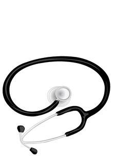 Vector Illustration The Medical Phonendoscope Royalty Free Stock Photos