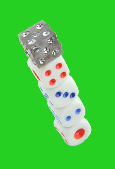 Free Dices Royalty Free Stock Image - 15359536
