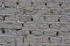Gray Bricks From Soil Stock Photography