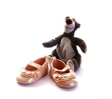 Pink Baby Shoes Royalty Free Stock Images