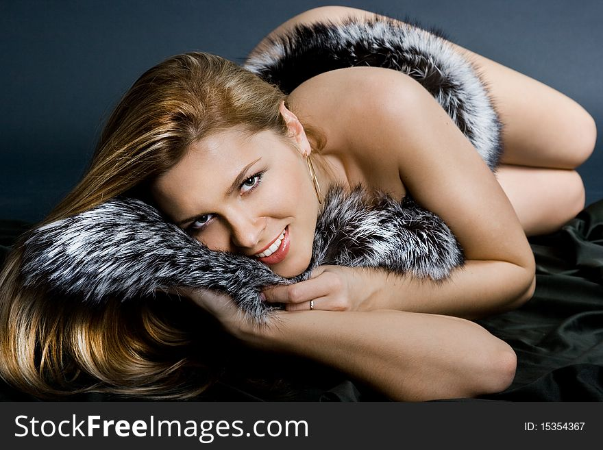 Girl with black fur