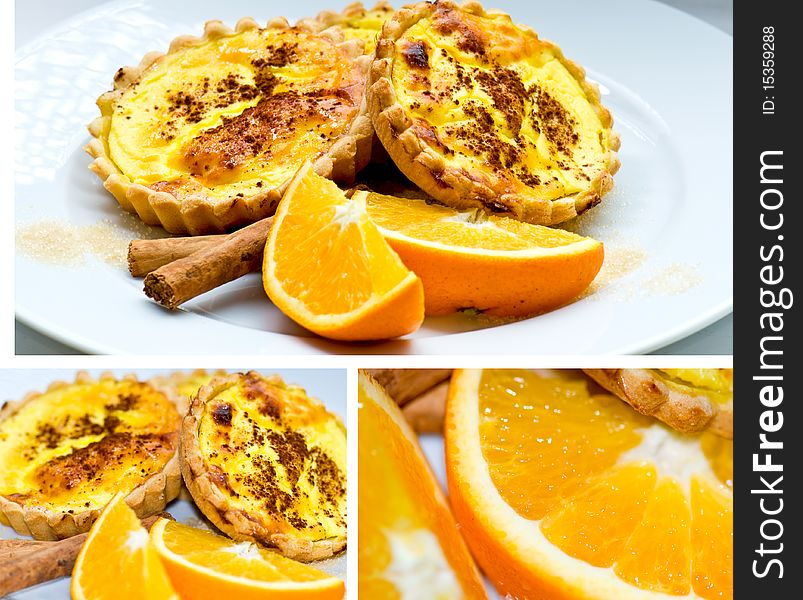 Saffron tarts