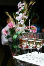 Free Champagne Glasses On The Table Stock Photography - 15364892