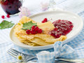 Free Pancakes With Jam Royalty Free Stock Photography - 15366047