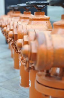 Close-up, Fire Hydrants Stock Image
