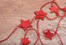 Free Christmas Decoration With Stars Royalty Free Stock Images - 15361719