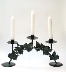 Free The Candlestick With Three Candles Stock Photos - 15362283