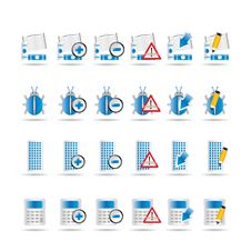 Free 24 Business, Office And Website Icons Royalty Free Stock Photography - 15362497