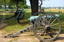 Free Gettysburg Cannon Line Royalty Free Stock Images - 15362689
