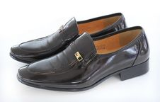 Free Men S Black Shoes Royalty Free Stock Image - 15362736