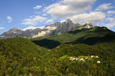 Dolomites: Monte Agner Stock Photos