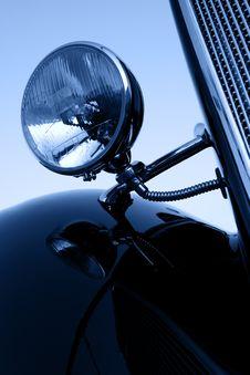 Free Vintage Car Chromium-plated Headlights Stock Image - 15363991