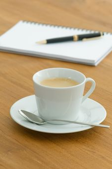 Free White Coffee Cup In A Business Setting Royalty Free Stock Photo - 15364015