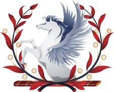 Free Pegasus Wreath Royalty Free Stock Photography - 15364197