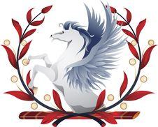 Pegasus Wreath Royalty Free Stock Photography