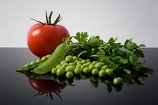 Free Vegetables Reflexion Stock Images - 15364534