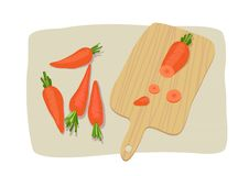 Free Carrot On Breadboard Royalty Free Stock Images - 15364819