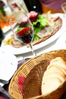 Free Fresh And Tasty Food On Table Royalty Free Stock Photos - 15364898