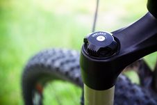 Mountain Bike Suspension Fork Detail Royalty Free Stock Photos