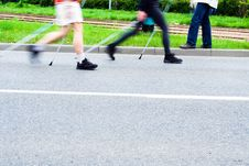 Free Nordic Walking Race, Motion Blur Stock Photo - 15365130