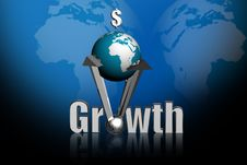 Free Growth  And Globe Royalty Free Stock Image - 15365996
