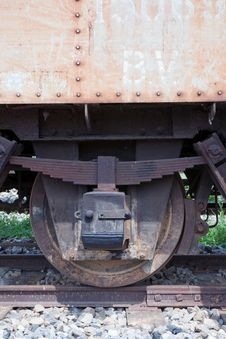 Free Old Wheel Of The Train Royalty Free Stock Photography - 15366007