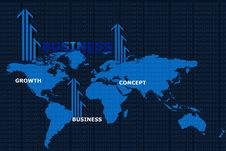 Free World Map  And Business  Arrow Royalty Free Stock Photography - 15366027