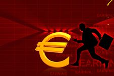 Free Euro And Running Business Man Stock Image - 15366151